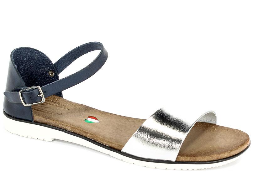 Sandały Blu... 1023 Granat+Multi