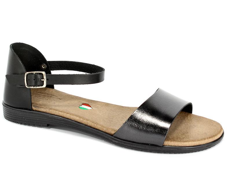 Sandały Blu... 1021 Czarny+Nikiel
