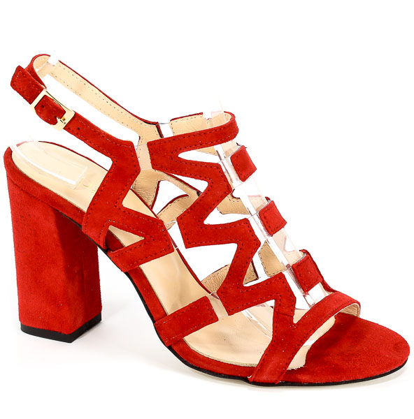 Sandały Damiss DS-192/A Czerwony Zam