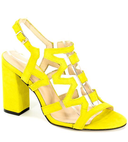 Sandały Damiss DS-192/A Żółty Zamsz