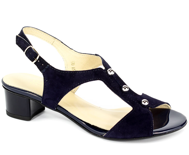 Sandały Gamis 3402 Granat Zamsz