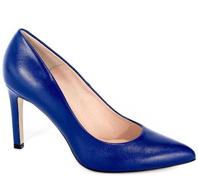 Czółenka Bravo Moda 1373 Niebieska Skóra