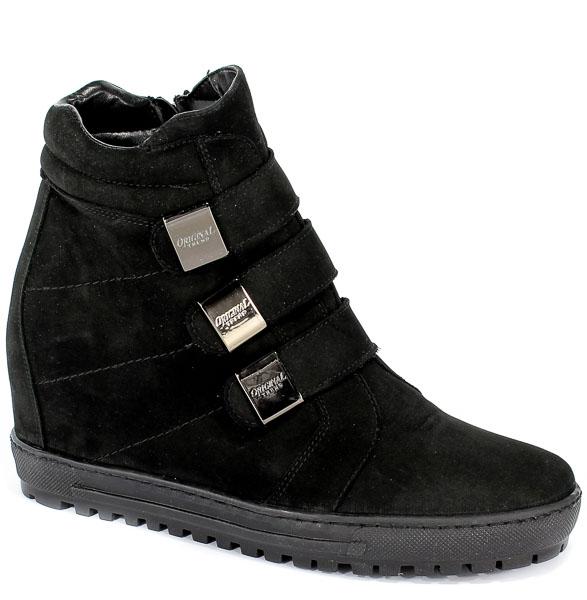 Sneakersy Eksbut 66-4319-549-1G Czarny Nubuk
