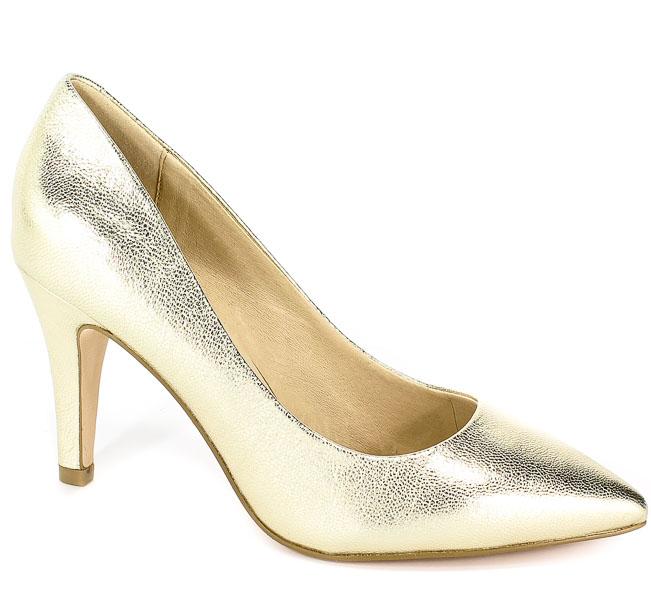 Czółenka Caprice 9-22416-22 978 G Lt Gold Metal