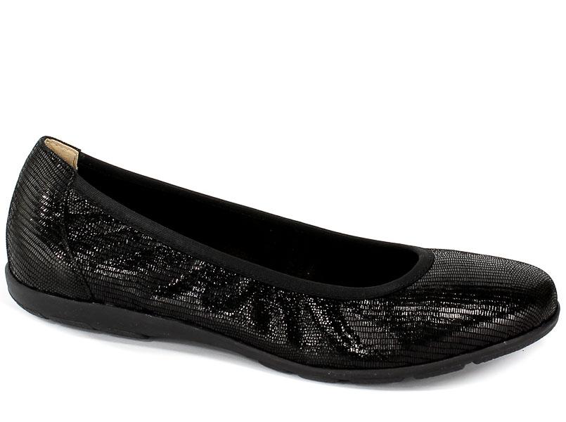 Baleriny Caprice 9-22150-22 010 Black Reptile