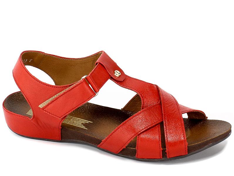 Sandały Lemar 40137 Zr.Czerwony