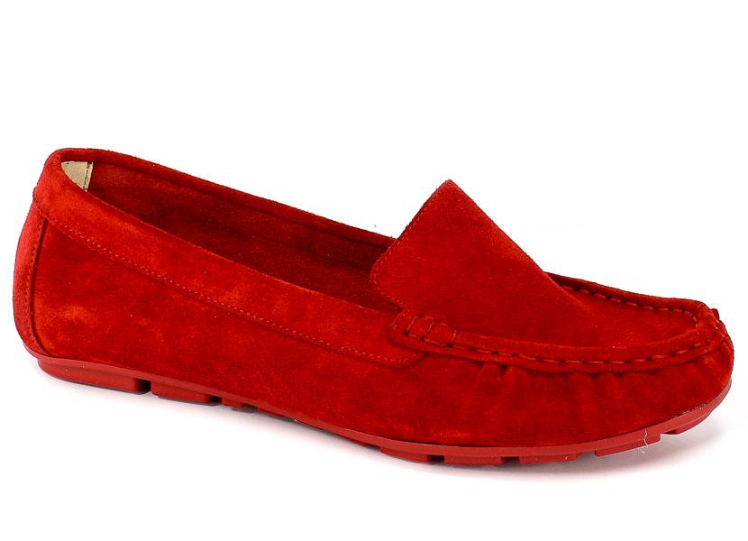 Mokasyny Lemar 10058 W.Czerwony