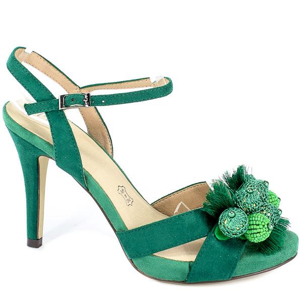 Sandały Menbur 20385 0050 Verde Esmeral/Emerald Green
