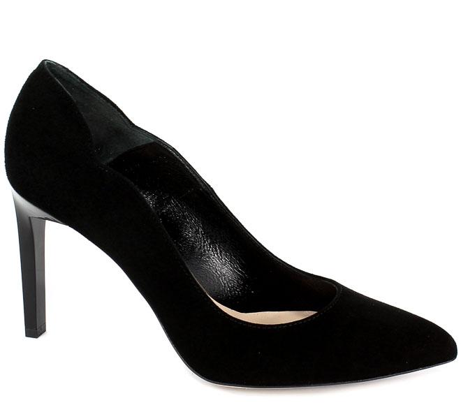 Czółenka Bravo Moda 1470 Czarny zamsz