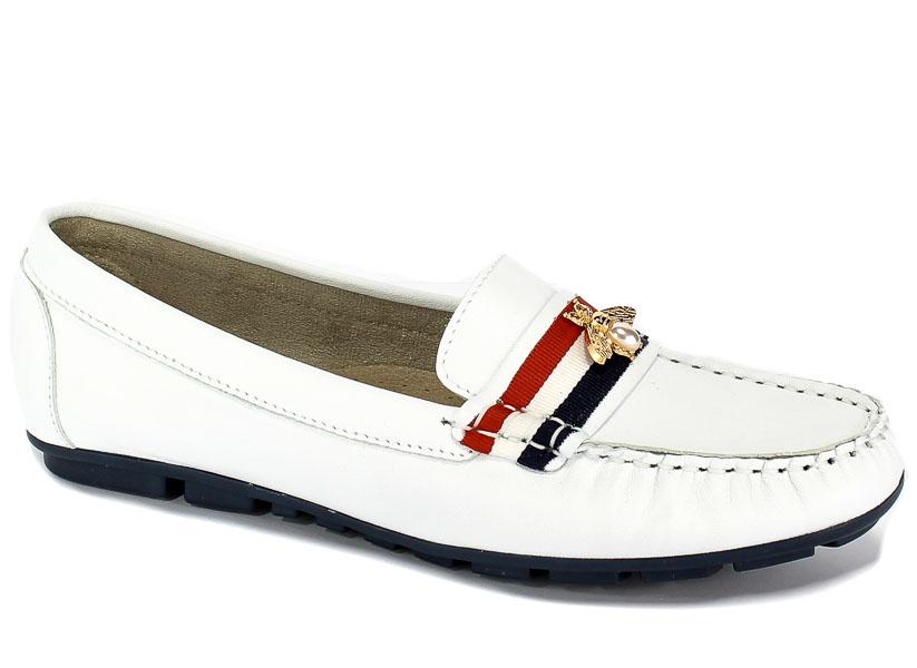 Mokasyny Euro Moda ChB 19 92273 Savage Biały