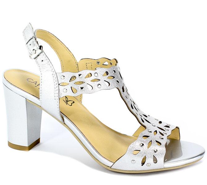 Sandały Caprice 9-28315-22 920 Silver Metal