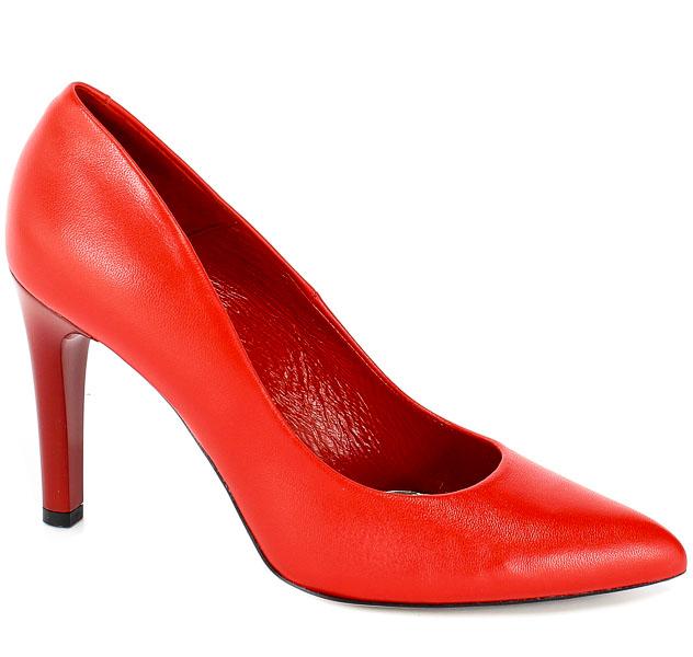 Czółenka Bravo Moda 1365 Czerwona Skóra