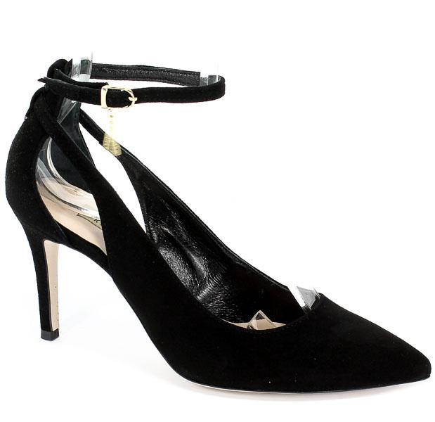 Sandały Bravo Moda 1726 Czarny Zamsz