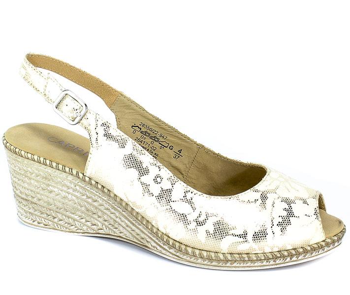 Sandały Caprice 9-28350-22 947 Gold Flower