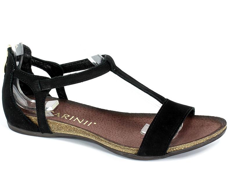Sandały Carinii B3779/NS-360-000-000-B02 Czarny