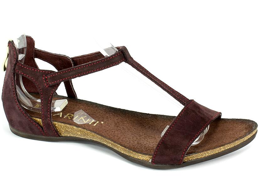 Sandały Carinii B3779NSW-M10-000-000-B02 Bordo