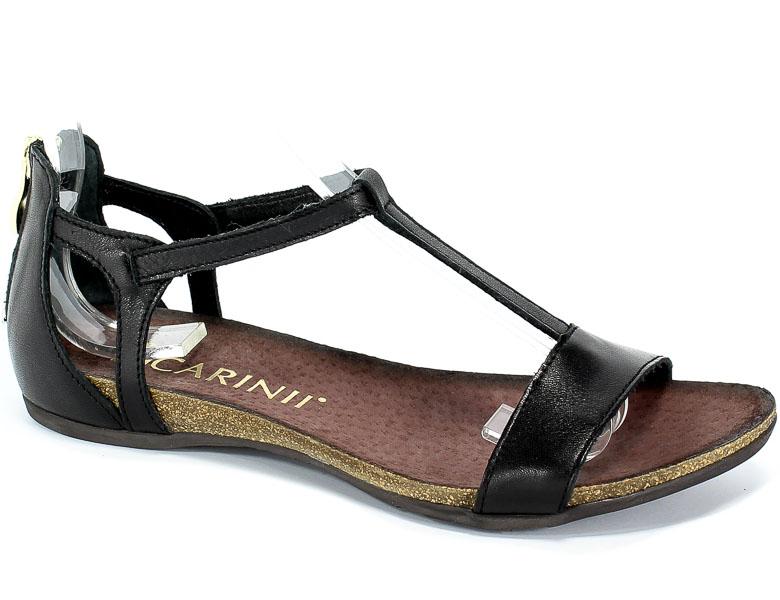 Sandały Carinii B3779/NS-E50-000-000-B02 Czarny