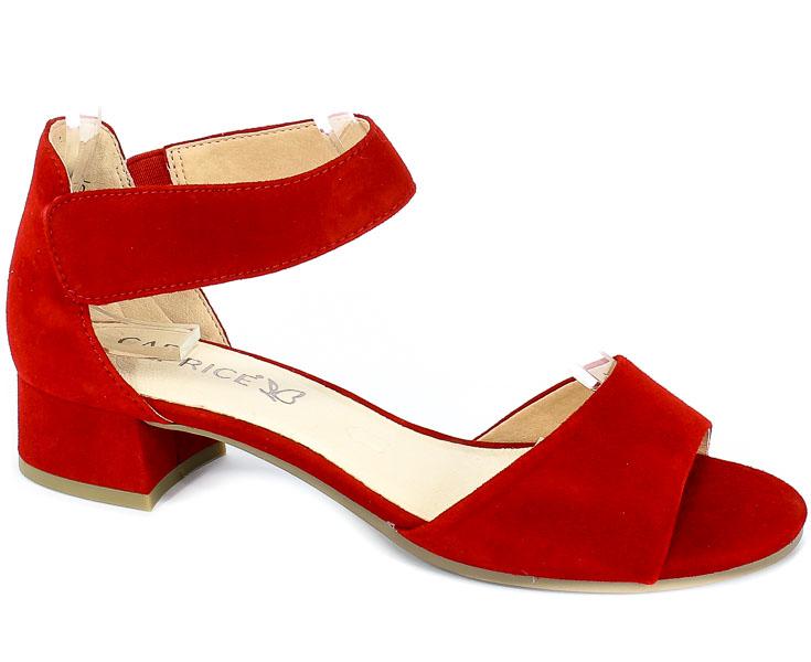 Sandały Caprice 9-28212-22 524 Red Suede