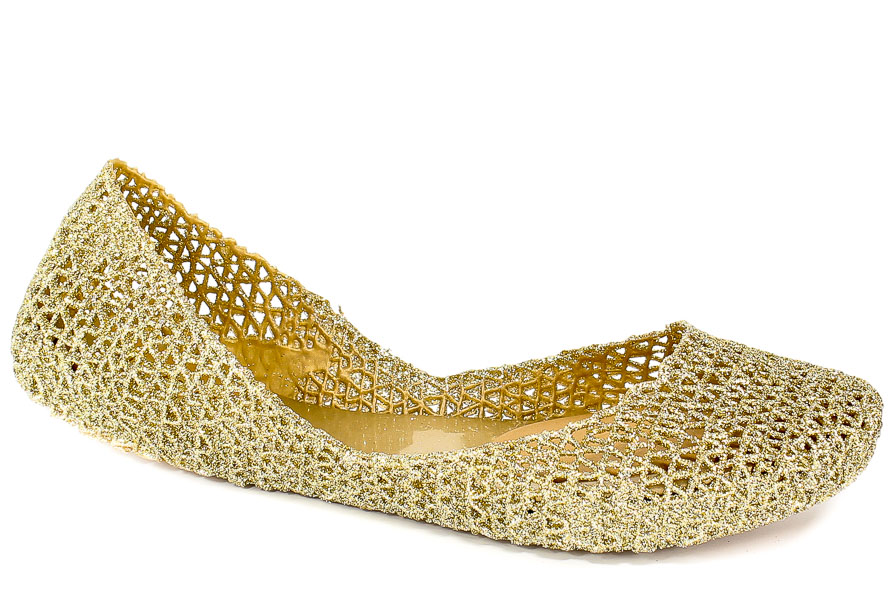 Baleriny Letnie Melissa 31512 50712 Gold Glitter