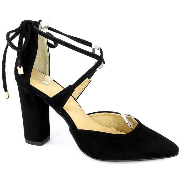 Sandały Lewski 2769 Czarny Zamsz