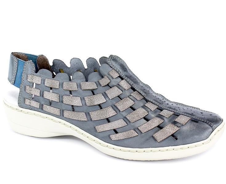 Sandały Rieker 413V8-12 Blue