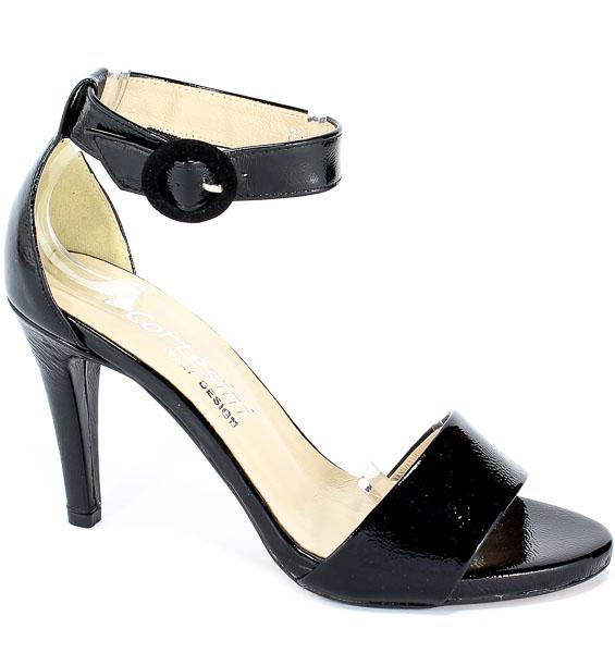 Sandały Cortesini 02220/5 Czarny/Naplak