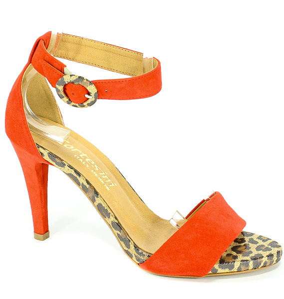 Sandały Cortesini 02220/4 Jarzębina/Zamsz