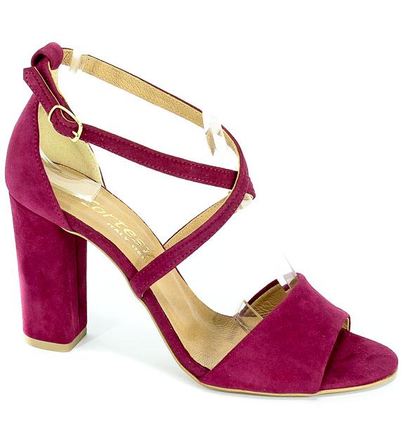 Sandały Cortesini 02284 Bordo/Zamsz