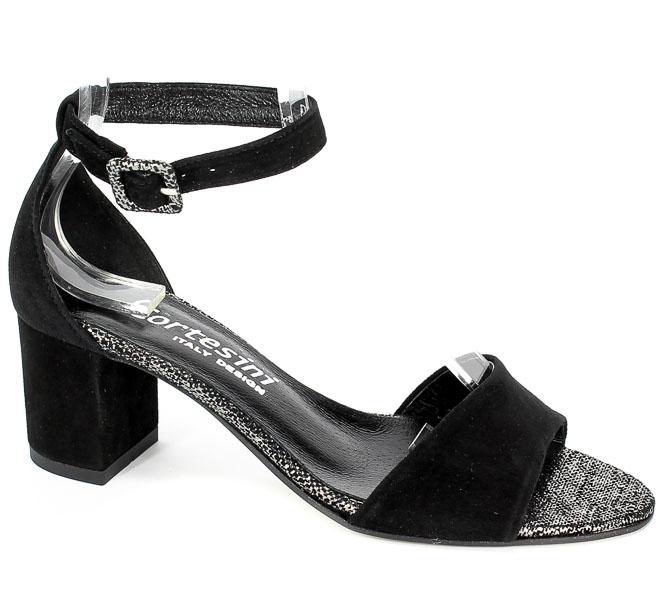 Sandały Cortesini 02272 Czarny/Zamsz