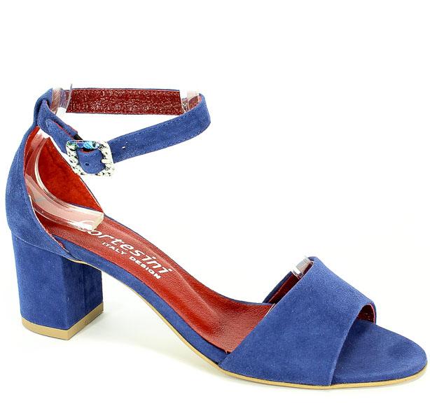 Sandały Cortesini 02272/2 Ocean/Zamsz