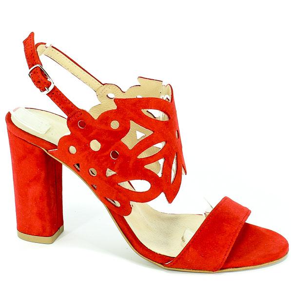 Sandały Cortesini 02100 Czerwony/Zamsz