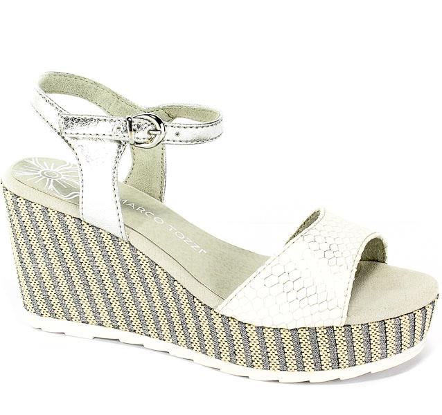 Sandały Marco Tozzi 2-28319-22 197 White Comb