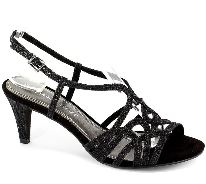 Sandały Marco Tozzi 2-28328-22 033 Black Metallic