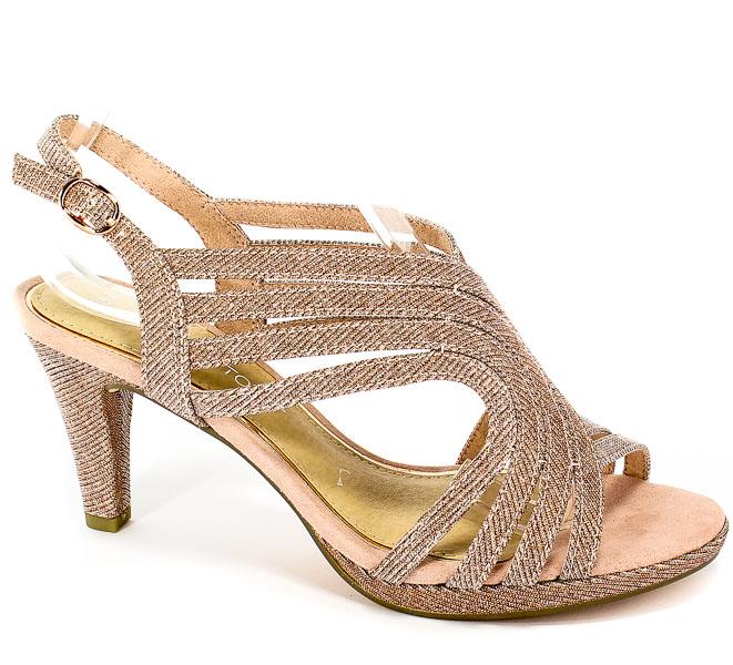 Sandały Marco Tozzi 2-28329-22 592 Rose Metallic