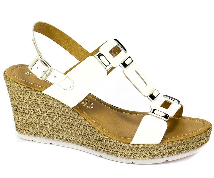 Sandały Marco Tozzi 2-28355-22 123 White Patent