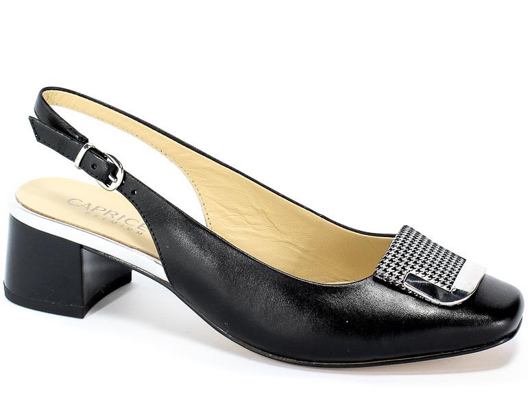 Sandały Caprice 9-29500-22 039 Blk Pepita Com
