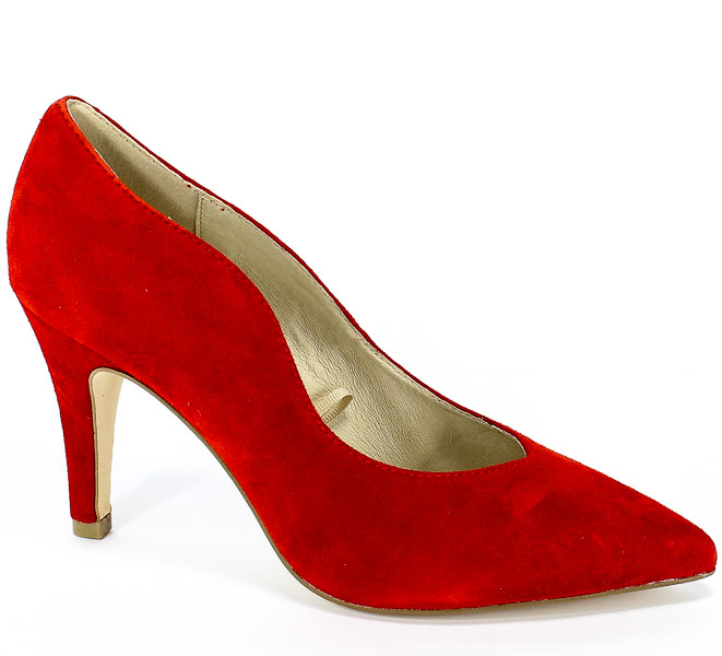 Czółenka Caprice 9-22406-22 524 Red Suede