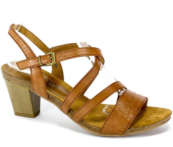 Sandały Caprice 9-28305-22 303 Cognac Nappa
