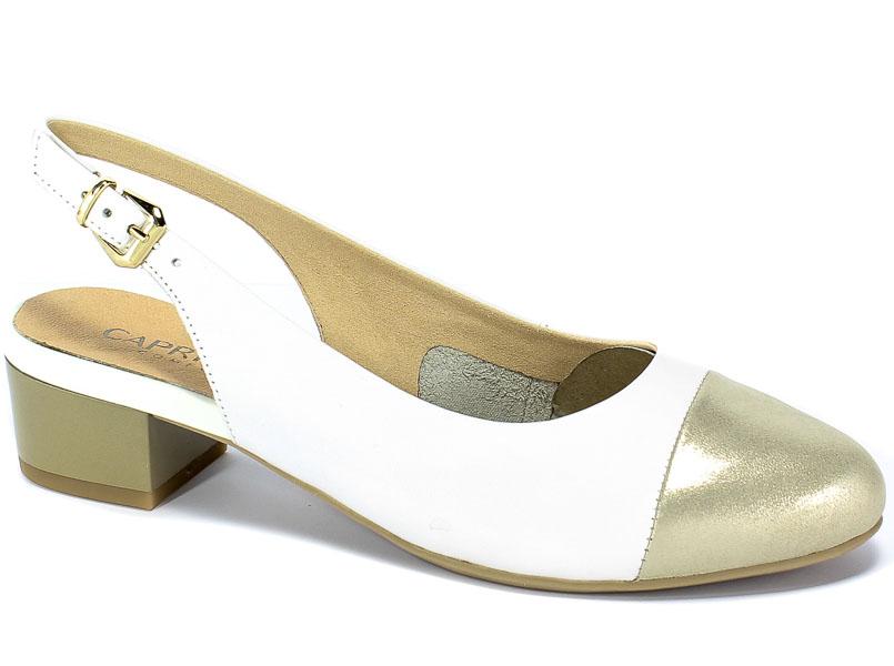 Sandały Caprice 9-29502-22 190 White/Lt Gold