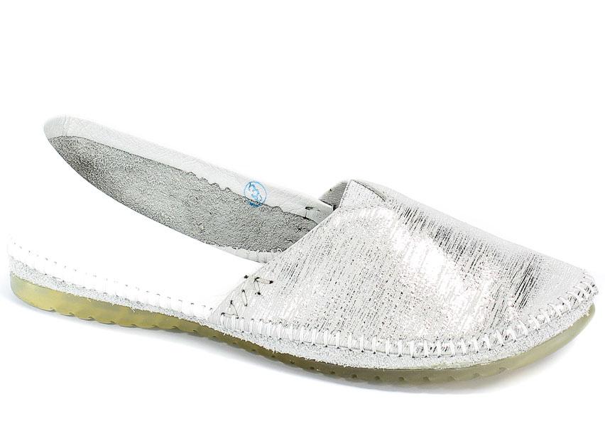 Baleriny Maciejka 01930-05/00-0 Biały Srebrny