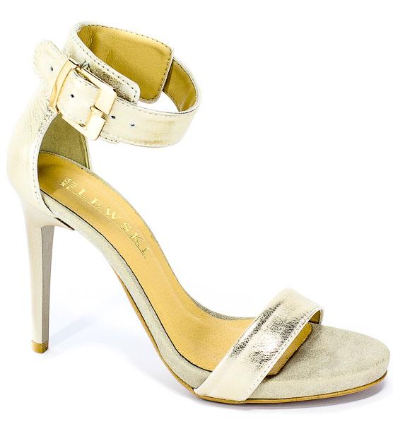 Sandały Lewski 2674 Złota Przecierka
