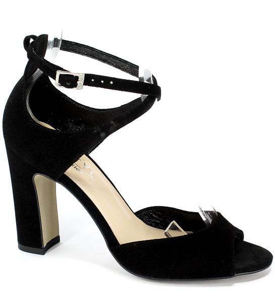 Sandały Kotyl 5915 Czarny Zamsz