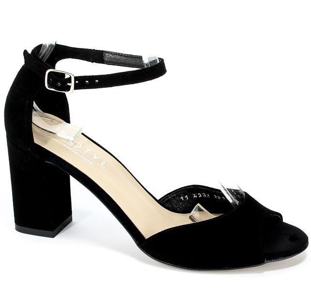 Sandały Kotyl 4331 Czarny Zamsz