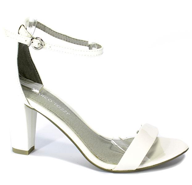 Sandały Marco Tozzi 2-28351-22 123 White Patent