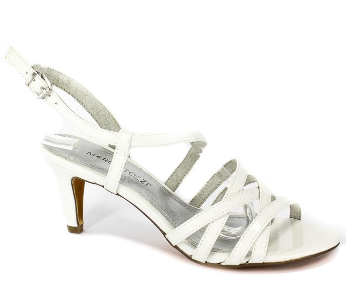 Sandały Marco Tozzi 2-28301-22 123 White Patent
