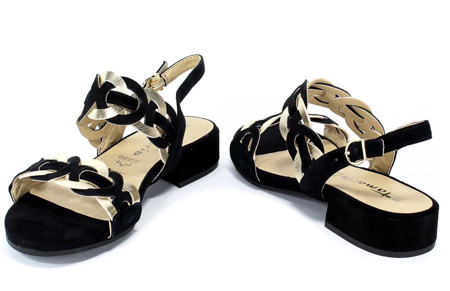 Sandały Tamaris 1-28239-22 024 Black/Gold.