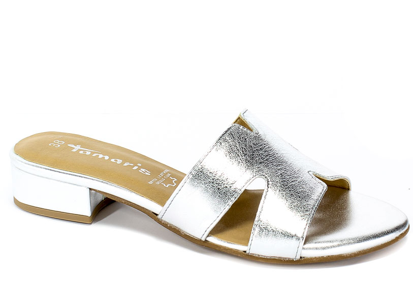 Klapki Tamaris 1-27123-22 942 Silver Leather