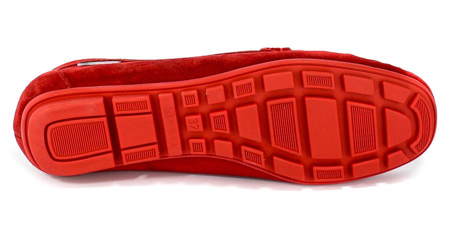Półbuty Nessi 17130 Czerwony 19