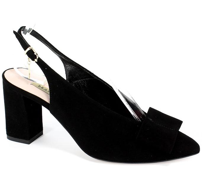 Sandały Bravo Moda 1731 Czarny Zamsz