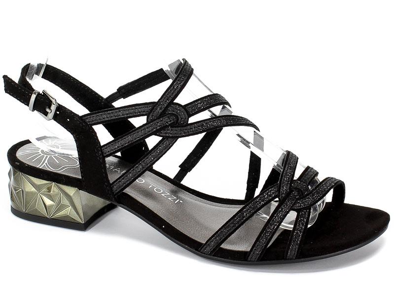 Sandały Marco Tozzi 2-28210-22 098 Black Comb
